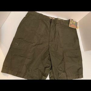 Tommy Bahama Dark Olive Shorts Sz 35 NWT.